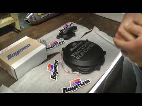 Boyesen Supercooler Kit & Clutch Cover Install & Overview