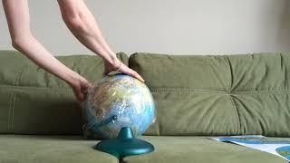 ОНЛАЙН ТРЕЙД.РУ Глобус Глобусный мир физико-политический 25 см с подсветкой на круг подставке 546445