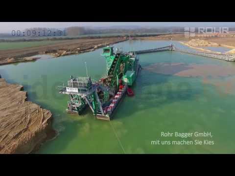 Плавучий многоковшовый экскаватор производства Rohr Bagger GmbH