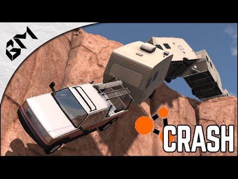 BeamNG Drive - 1 VOITURE, 5 CARAVANES = CRASH - F1 Crash Test