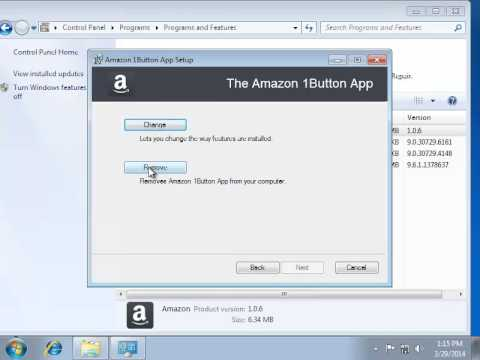 How To Remove Amazon 1button App Youtube