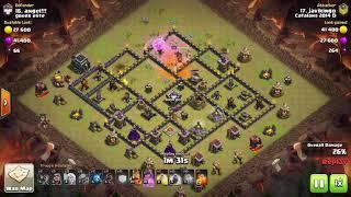 Catalans 2014D vs greek elite - Th9 3 Stars - QW + mass hogs - Clash of Clans