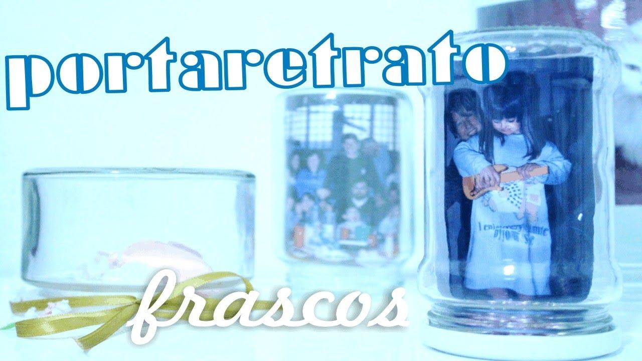 PORTARETRATO con frascos! ✩ rapido y facil ✩ Marco para FOTOS ...