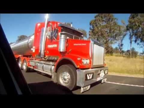 Trucks in Australia - Western Star B Double - Booth Transport Style