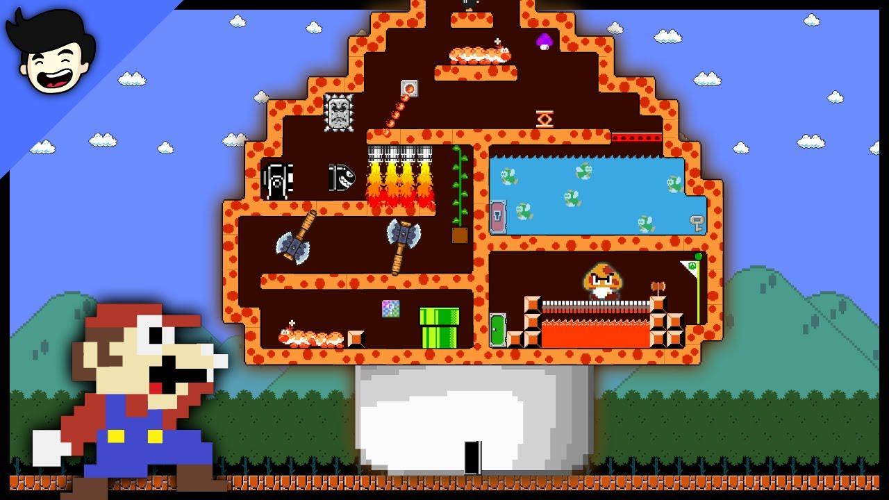 🍄Mario Bros. Giant Mushroom MAZE !! [Mario Cartoon Animation]