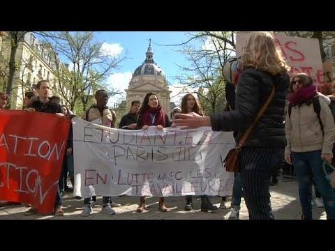 طلاب فرنسا يحتجون على خطط التعليم العالي المطروحة من قبل الحكومة  - نشر قبل 2 ساعة