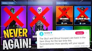 10 Retired Fortnite Skins NEVER Coming BACK to the Store... (Fortnite Rare Skins)