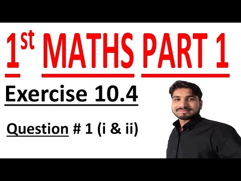 FSC Math book 1 ch 10,Lec 1, Formulas & Exercise 10 4 Question 1 (i),(ii)  Math Chapter 10