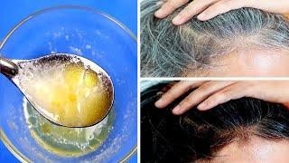 Nutze diese Zutaten auf deinem Haar, um graue Haare natürlich zu entfernen