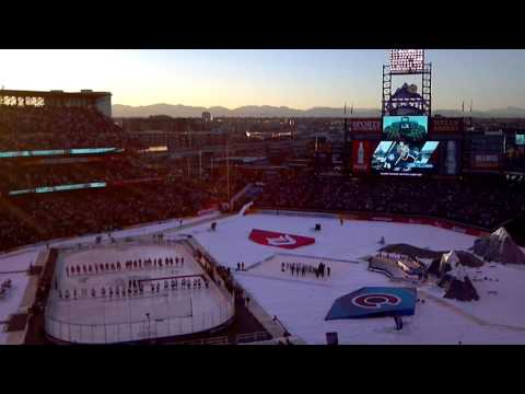2016 NHL Stadium Series @ Coors Field- Avalanche vs Red Wings Alumni Game- Avs intros