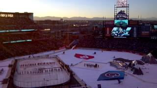 2016 nhl stadium series coors field avalanche vs red wings alumni game avs intros