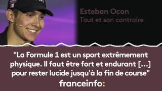 """Esteban Ocon :""""la Formule 1 Est Un Sport Extrêmement Physique"""""""