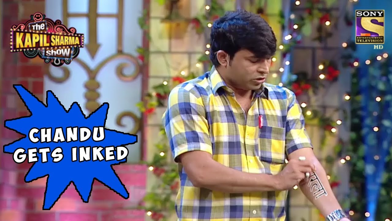 Chandu Gets Sarla's Name Inked - The Kapil Sharma Show