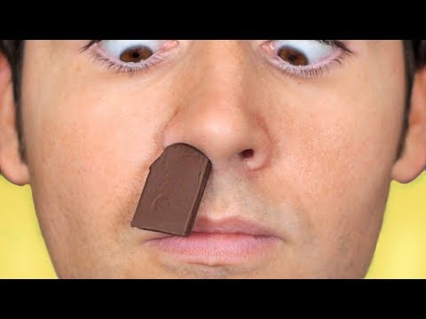 CHOCOLATE STUCK IN NOSE!