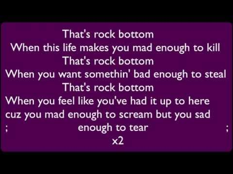Eminem Rock Bottom (Lyrics on Screen)