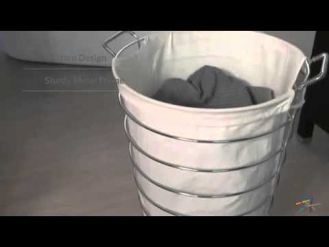 Organize It All Jumbo Laundry Basket with Canvas Bag - Product Review Video
