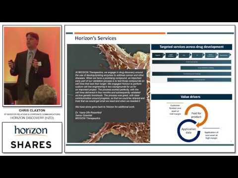 Chris Claxton - VP Investor Relations & Corporate Communications - Horizon Discovery