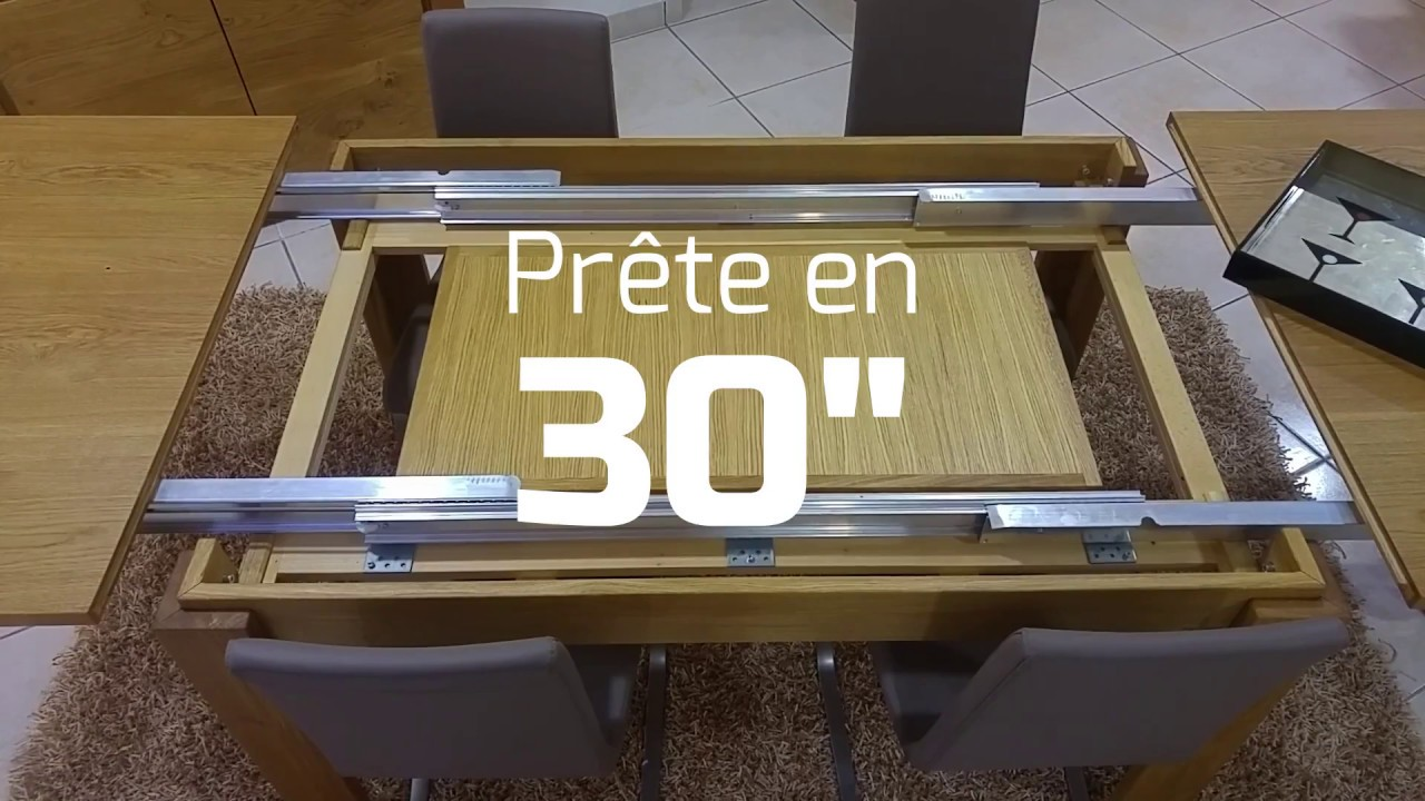 table a manger avec allonges integrees