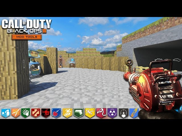 ONE WINDOW CHALLENGE (Minecraft Edition) - BLACK OPS 3 CUSTOM ZOMBIES MAP! (COD Zombie Mods)