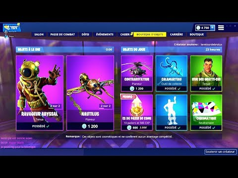 BOUTIQUE FORTNITE du 22 Fevrier 2019 ! ITEM SHOP February 22 2019
