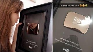 Baixar Mharessa ganha placa do youtube | Canal Mega Teen