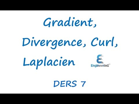 Elektromanyetik Teori Ders 7 Gradient, Divergence, Curl, Laplacien