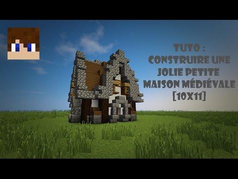 Minecraft | Tuto - Comment construire une jolie petite maison médiévale [10x11]
