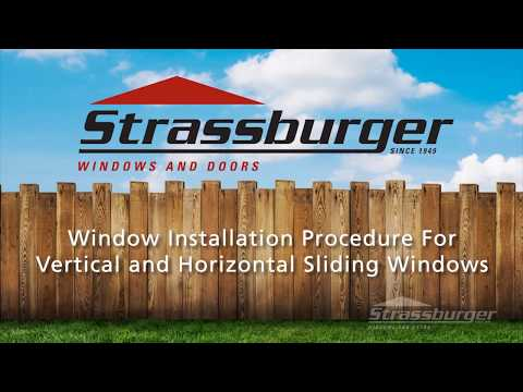 Sliding Window Installation Procedure