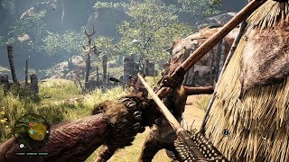 Very Beautiful Stealth Gameplay from Open World Game Far Cry Primal