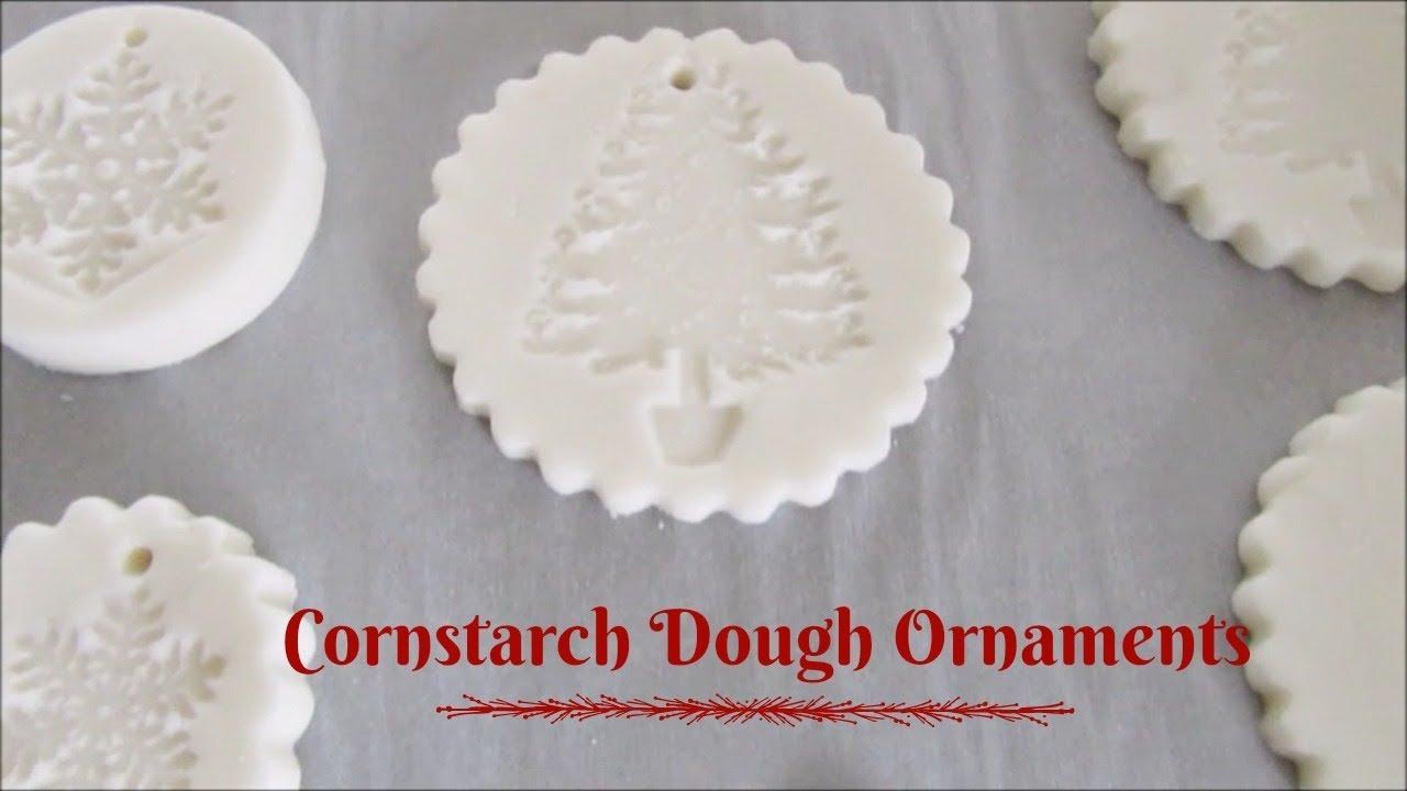 Cornstarch Dough Ornaments - YouTube