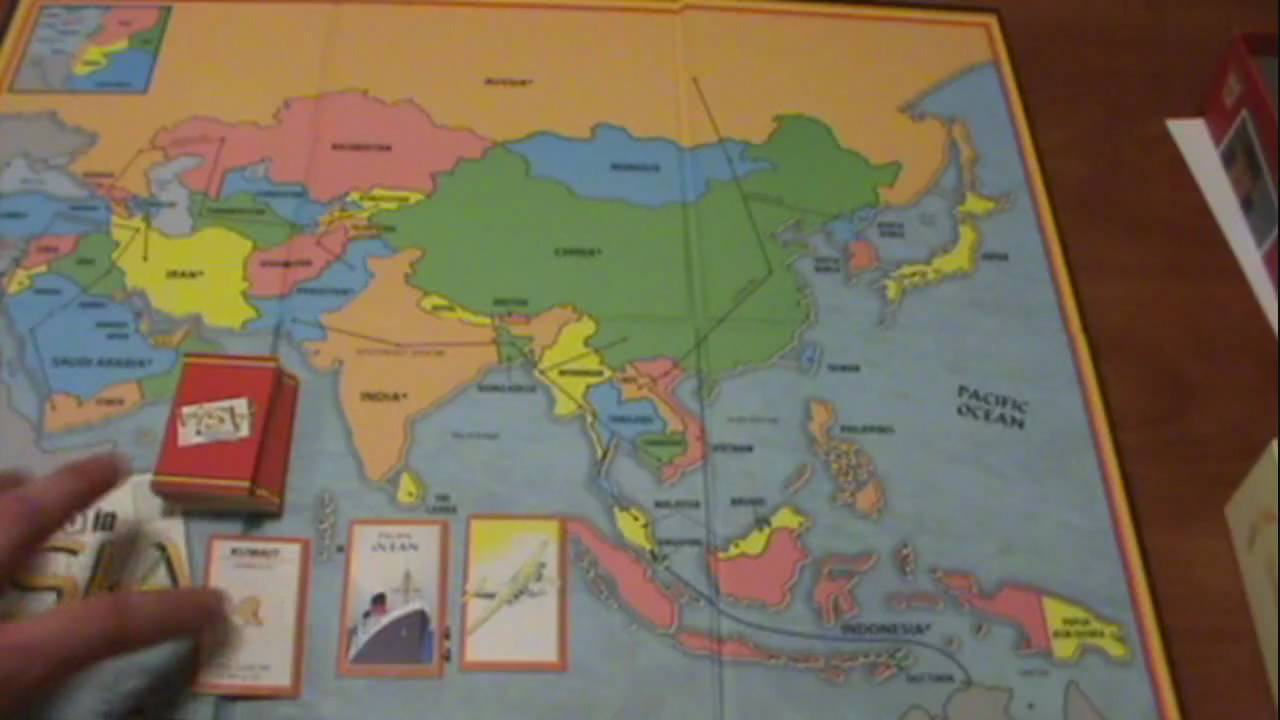 Map Of Asia Review Game.10 Days In Asia Board Game Review