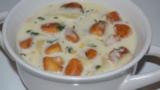 Как приготовить ВКУСНЫЙ  И ОЧЕНЬ АРОМАТНЫЙ суп на кефире  с домашней лапшой! ВЫ ТАКОГО НЕ ЕЛИ!