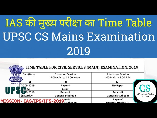 UPSC Civil Services 2019 : Union Public Service Commission