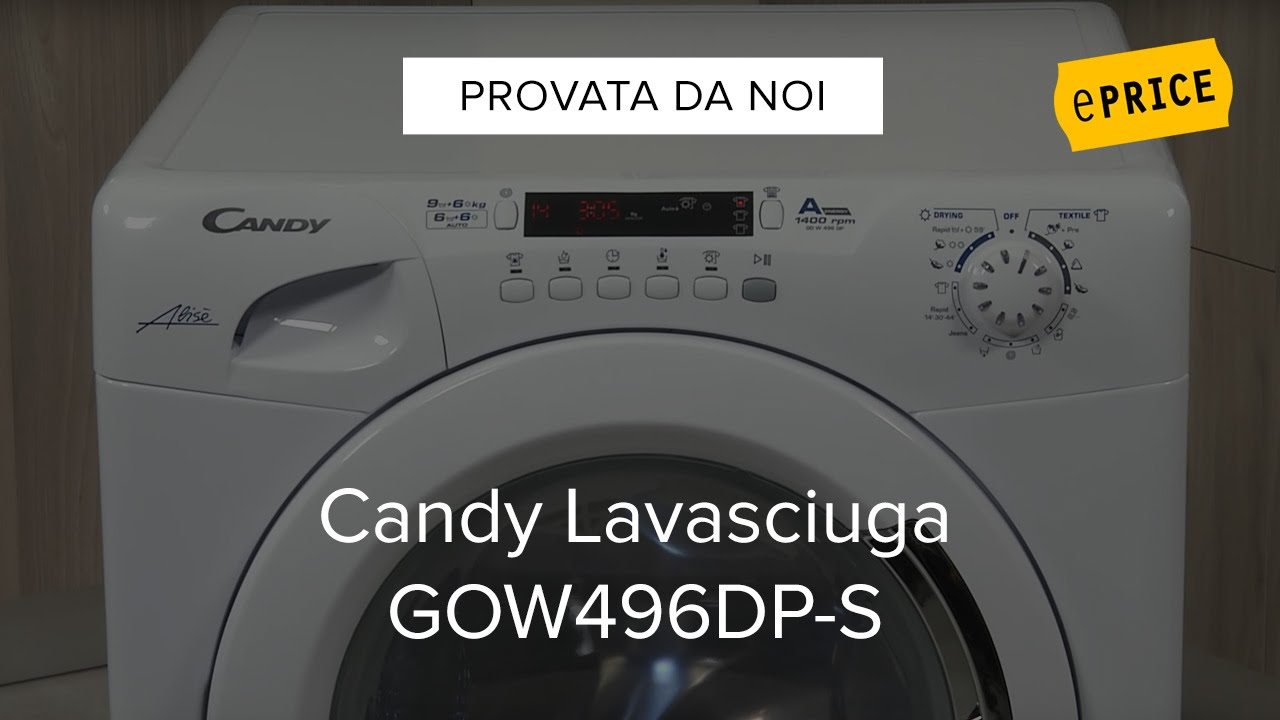 Elegant Video Recensione Lavasciuga Candy GOW496DP S   YouTube