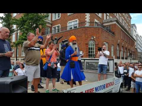 Sikh speech at hooligans London march 2017