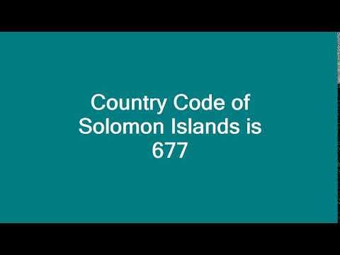 Country Code of Solomon Islands is 677