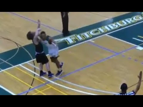 Fitchburg State University basketball player Kewan Platt suspended after brutal elbow hit