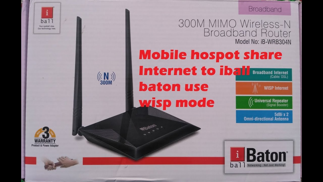 New Drivers: iBall iB-WRA300N Router