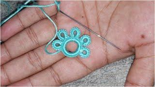 Amazing Work Hand Embroidery Basic Trick Hand Stitch Flower new Design