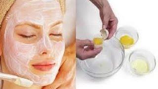 mascara de clara de ovos para a pele