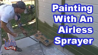 How to spray your house with an airless sprayer.  Graco Airless Sprayer Instructions.