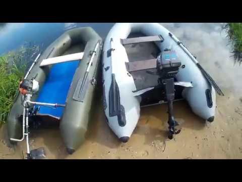 Лодочный мотор Patriot bm 106 vs Merlin 3.5 Гонка