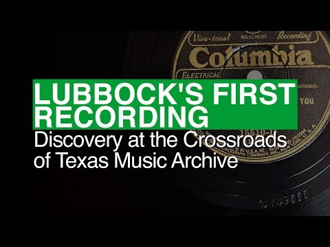 Lubbock's First Record