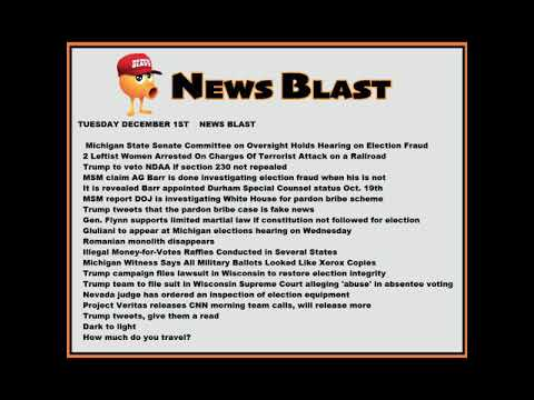 Tuesday, December 1, 2020. News Blast. #NBR #NewsBlastReadings #Enoch