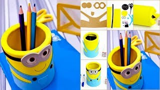 DIY Room Decor & Organization For 2017 - DIY Minions Tin Cans & Foam Papear - Kids Projects #26
