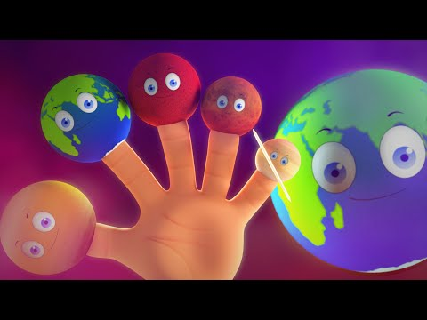 Planets Finger Family | Planet Song | 3D Nursery Rhymes Songs For Kids