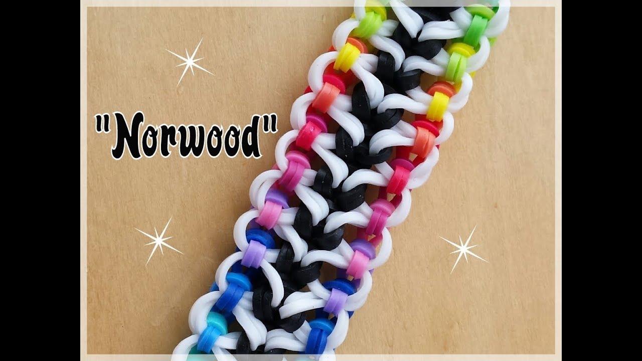 Quot Norwood Quot Rainbow Loom Bracelet How To Tutorial Youtube