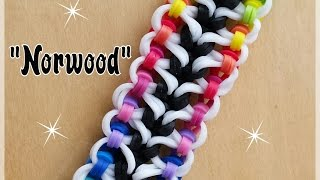 """Norwood"" Rainbow Loom Bracelet/How To Tutorial"