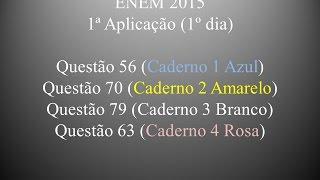 Questão 56 (Caderno 1 Azul) ENEM 2015