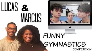 MARCUS & LUCAS- FUNNY GYMNASTICS COMPETITION // Reaction By JBrad&Chas Tv